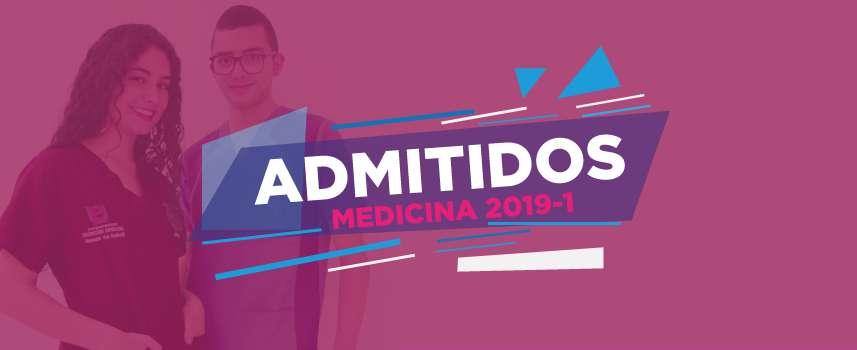 Listado de admitidos a Medicina (2019-1)
