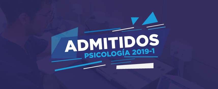 Listado de admitidos a Psicología (2019-1)
