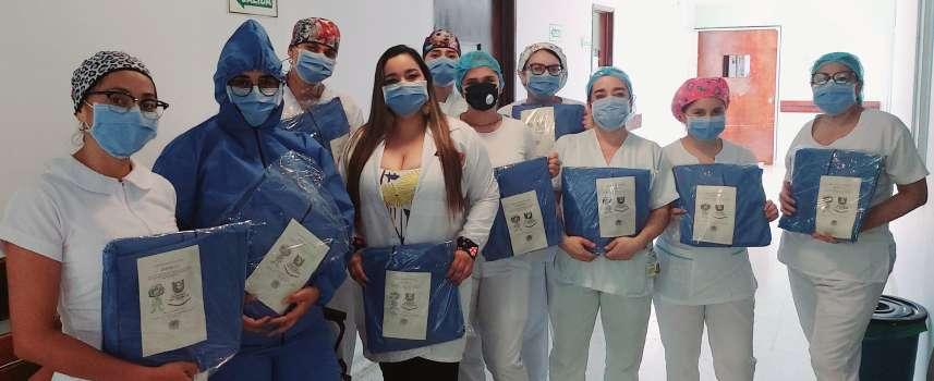 Docentes de Medicina de la Universidad von Humboldt donaron elementos de protección a personal de la salud