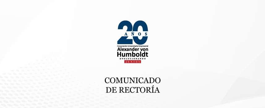 COMUNICADO DE RECTORÍA: Este 12 de mayo se suspenderán actividades académicas
