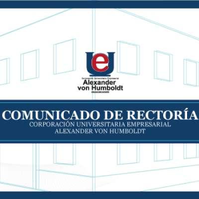 COMUNICADO: Universidad Alexander von Humboldt no detendrá sus labores durante la cuarentena